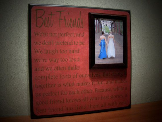 Best Friends Wedding Frame, Maid of Honor, Bridesmaid, Sister, Quote on Etsy, $70.00