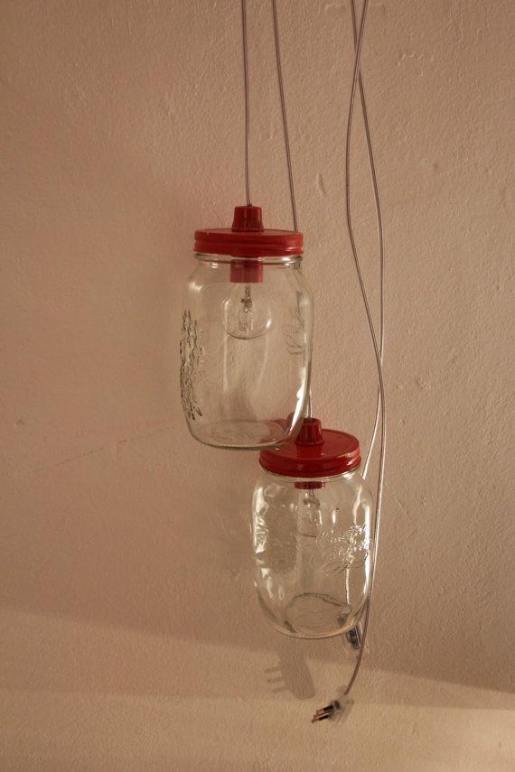 Light in a jar  lampada in barattolo di vetro  di CloeT su Etsy, €12.00