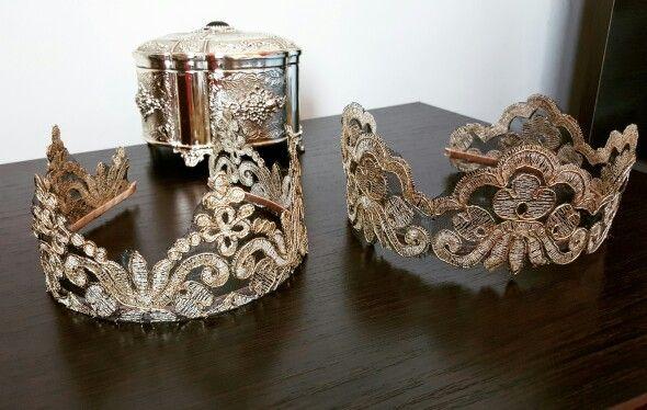 Ободки короны из кружева