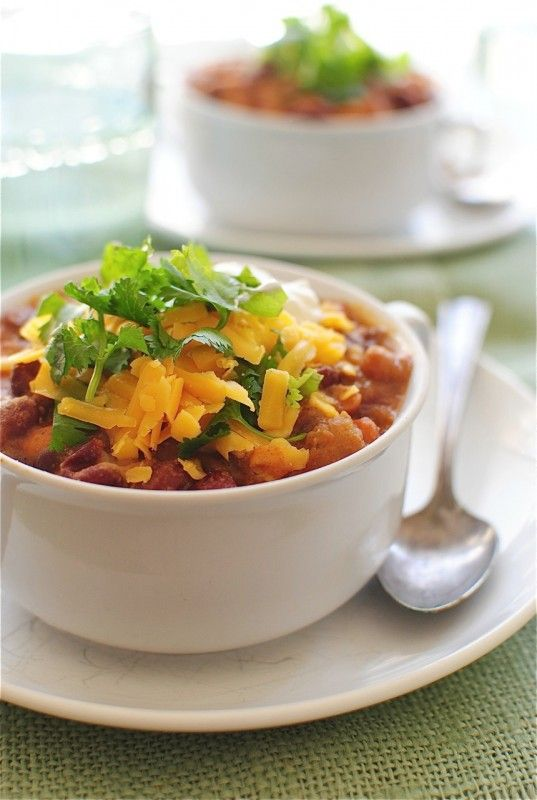 Chipotle Chicken Chili by the Pioneer Woman