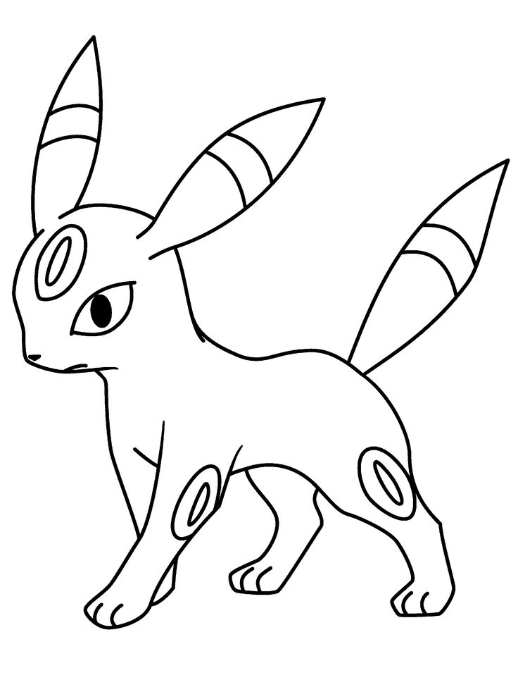 pokemon umbreon coloring pages for kids printable pokemon coloring pages for kids - Grass Type Pokemon Coloring Pages