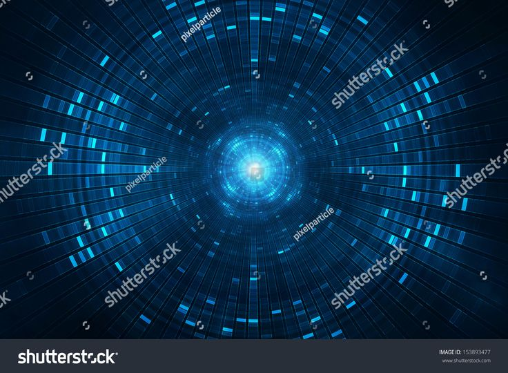 Abstract science fiction futuristic background vision of super collider particle accelerator