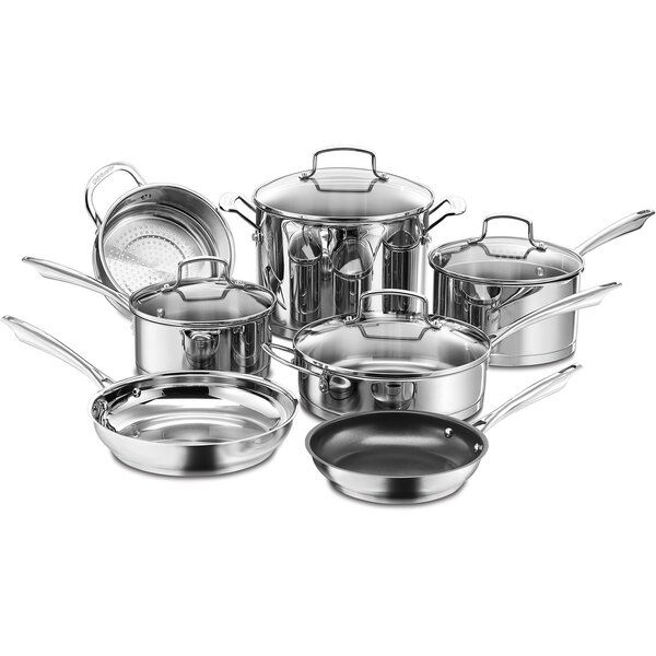 Cuisinart Professional Series 11 Piece Stainless Steel Non Stick