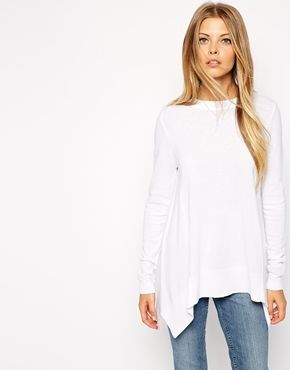 ASOS Trapeze Sweater In Fine Knit