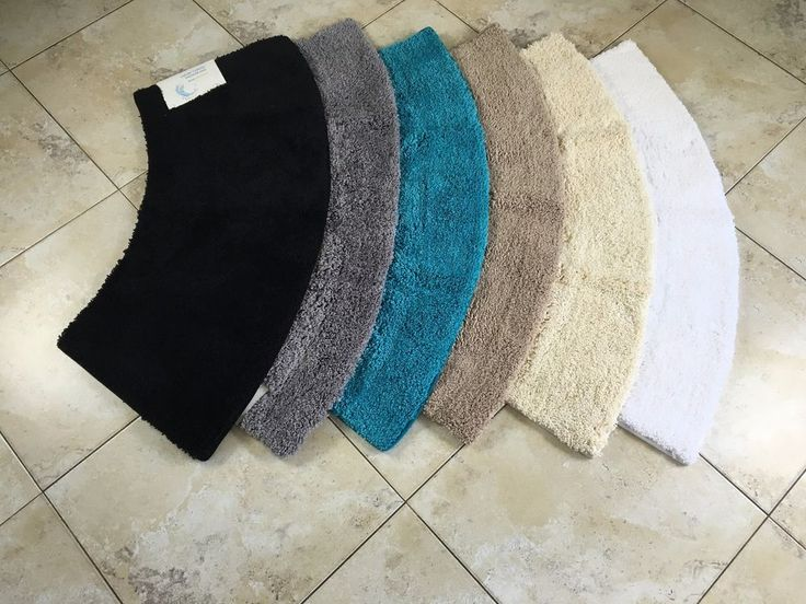 """To complete your bathroom, we also have matching traditional style mats manufactured to the same high quality. This includes a luxurious 1"""" pile bath mat and pedestal mat. Our mats might not be considered suitable for floors with an uneven non slip surface as the mat may not be able to fully adhere and that could cause the mat to slip. 
