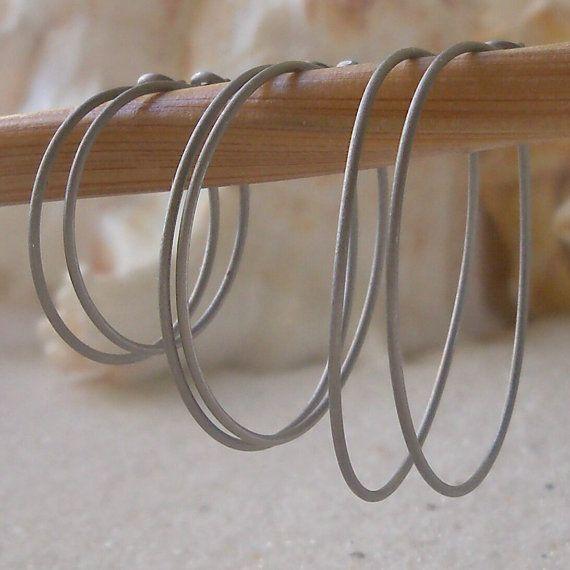 Hoop Earrings for Sensitive Ears Pure by CraftLikeAnArtist