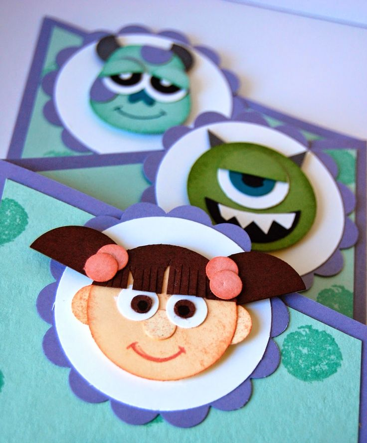 Julie Kettlewell - Stampin Up UK Independent Demonstrator - Order products 24/7: Monsters Inc Punch Art