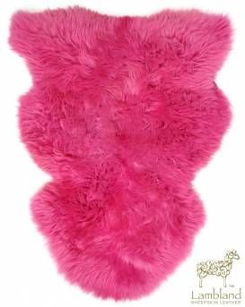 Fucshia Sheepskin Rug | Various Sizes | Buy Now from Lambland | FREE UK DELIVERY