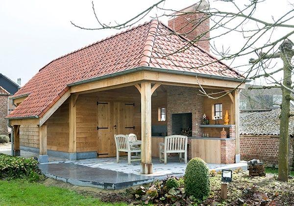 Een Engels schuurtje of garage, carport, pool house en guesthouse in landelijke stijl? Neem contact op met Wood Arts in Avelgem.