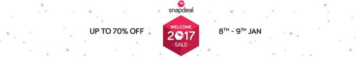 Snapdeal welcome Sale 2017  Get Upto 75% Off  15% Discount Via Sbi Cards
