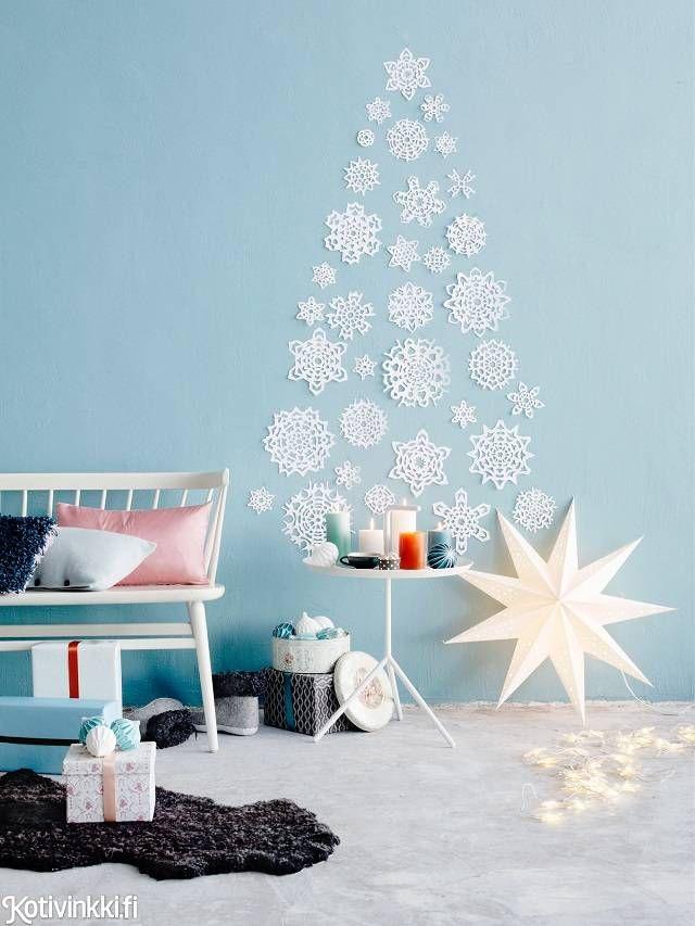 Joulukuusi paperitähdistä | Kotivinkki