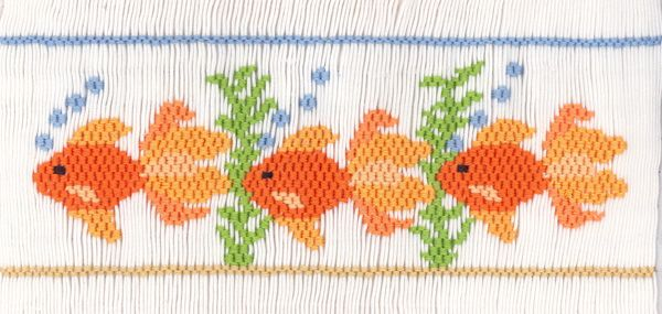 "Farmhouse Fabrics: CEC- ""Goldie & Friends"" Smocking Plate by Crosseyed Cricket"