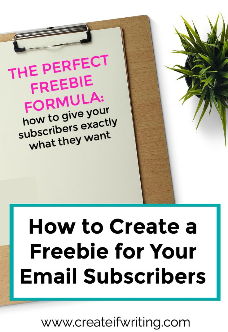 Learn how to create a freebie for email subscribers that will grow your list and benefit your audience.
