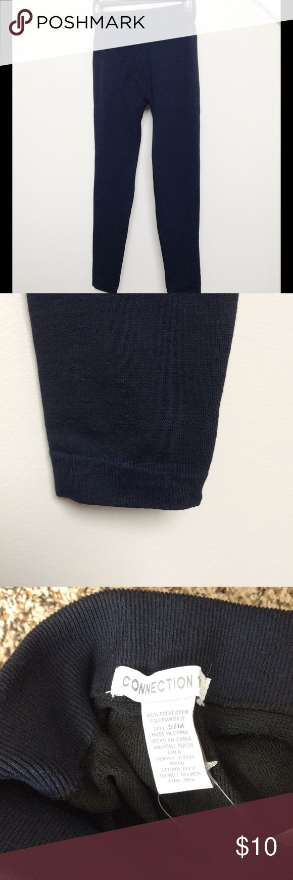 """Black NWT Leggings, Size S Thick black leggings that are NWT.  Size on tag says """"S/M"""" but they fit more like a small.  Inseam is 26.5, so they may fit more like capri leggings (unless you are a shortie like me!).  Material is thicker (kind of feels like sweatpants on the outside). Pants Leggings"""