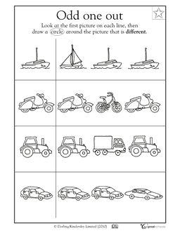 Preschool worksheets from greatschools