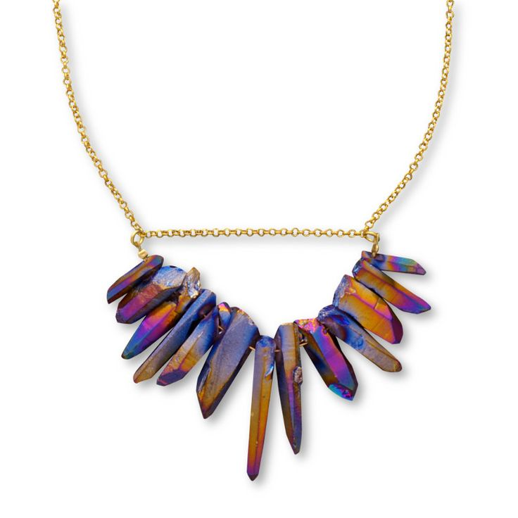 Rainbow Crystal quartz necklace/ Jewelietta