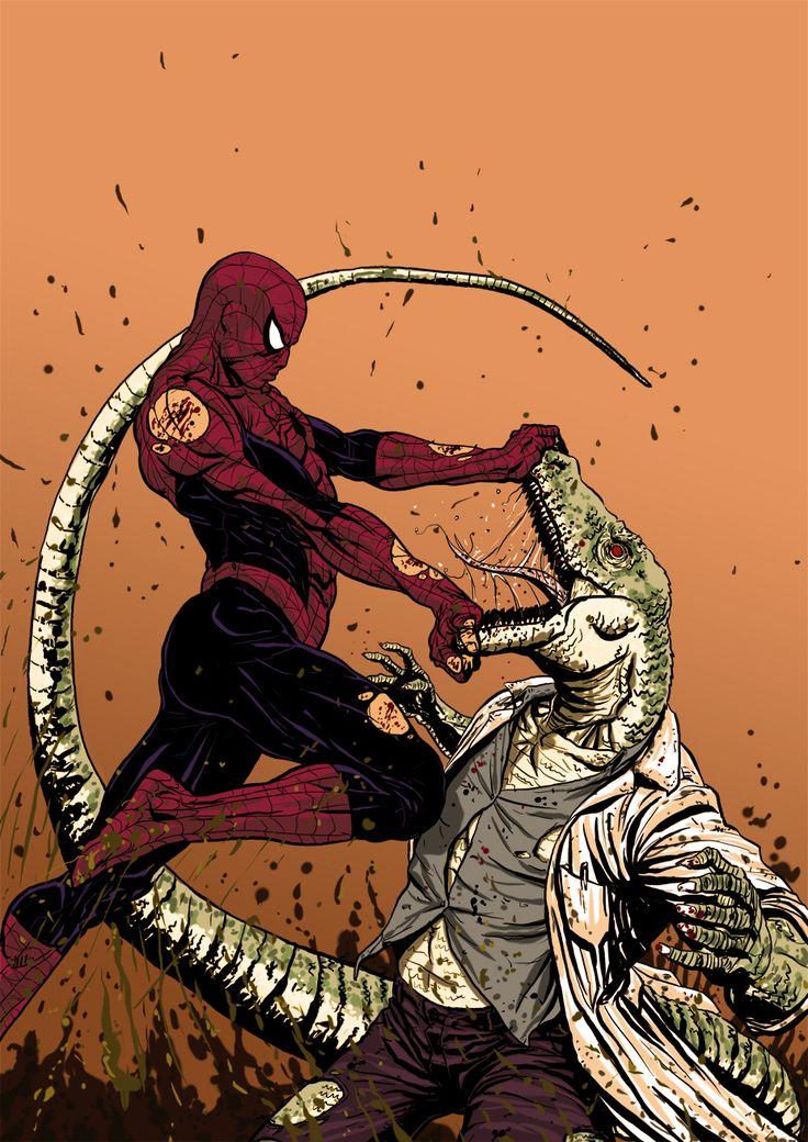 Spiderman vs lagarto