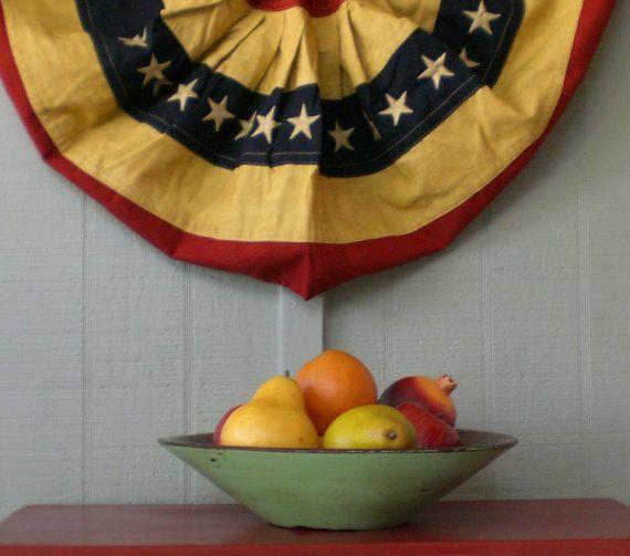 Vintage Wooden Farmhouse Bowl Jadeite Green by redshedvintage, $18.00
