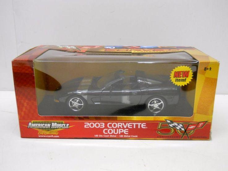 Ertl 1:18 Diecast 2003 Corvette Coupe - 50th Anniversary Ed MIB - Black #ERTL
