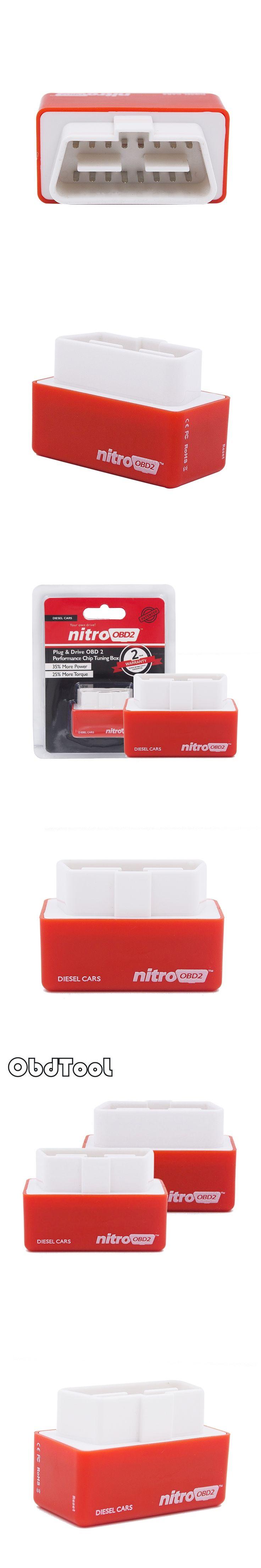 2016 Best Nitro OBD2 Chip Tuning Box More Power & Torque NitroOBD2 Nitro For Diesel Car Nitro OBD Plug & Drive Retailing Box
