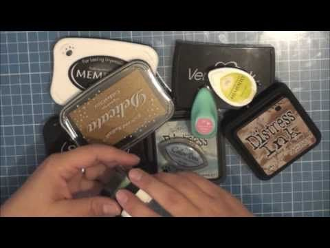 Sellos y tintas- Talco para embossing - YouTube