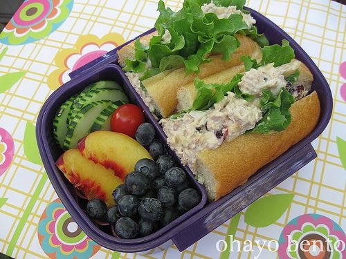 tuna hoagie bento with fruit and veggies lunch box ideas pinterest kid lunches tuna and kid. Black Bedroom Furniture Sets. Home Design Ideas