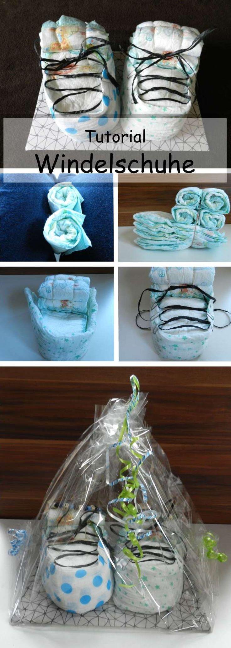 Windelschuhe als Geschenk für Neugeborene - eine Alternative zur Windeltorte