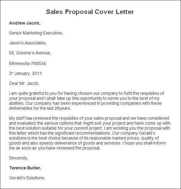 Sale Proposal Letter Best Of Sample Sales Proposal Cover