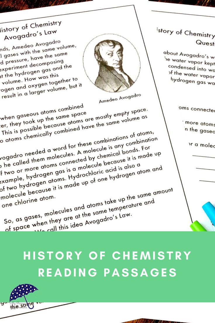 Are you teaching middle school or upper elementary chemistry? Do some of your students need a little extra help? Understanding the history of chemistry can help students understand the concepts you are teaching. Using reading passages is an opportunity for cross-curricular instruction with science, social studies, and reading. Learn all about how Avogadro discovered Avogadro's Law. Click to see more!