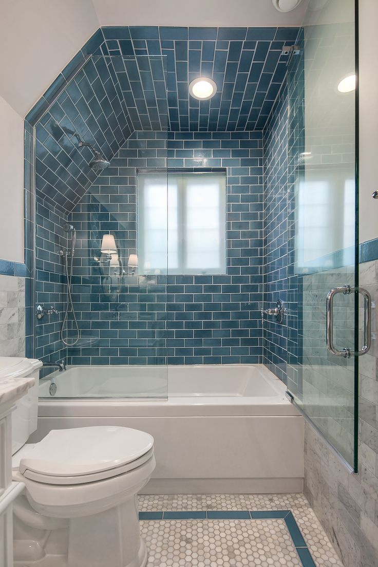 6x6 Subway Tiles in Mayan Blue // As bathroom design shifts to be