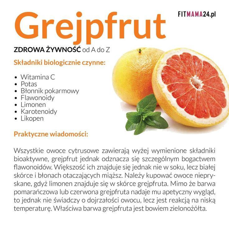 Z cyklu zdrowa żywność od A do Z - Grejpfrut #zdrowie #zdrowa #żywność #dieta #heatlh #healthy #diet #rada #porada #infografika #fitmama #fit #fitness #instagym #instafitness