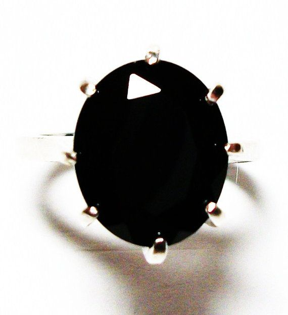 Black spinel ring black spinel  black cocktail by Michaelangelas, $79.50