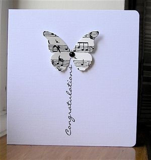 Musical Butterfly. Love the simplicity of it