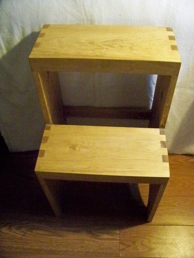 wooden step stool adult via etsy