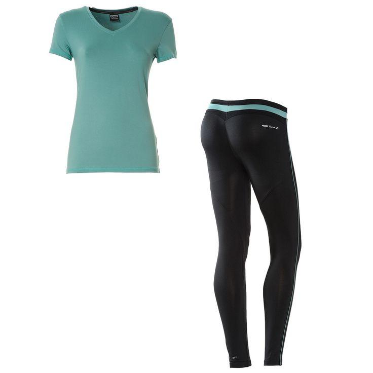 WR.UP® SHAPING EFFECT/ Skinny Lycra Activewear Set Black Teal