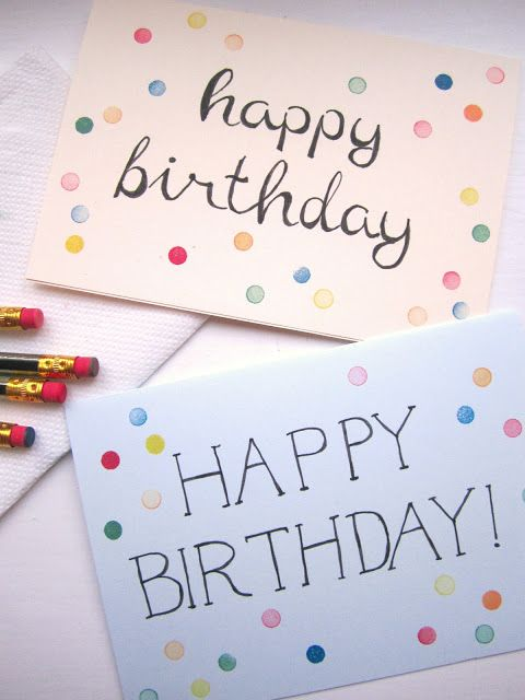 Make your own dotted birthday card