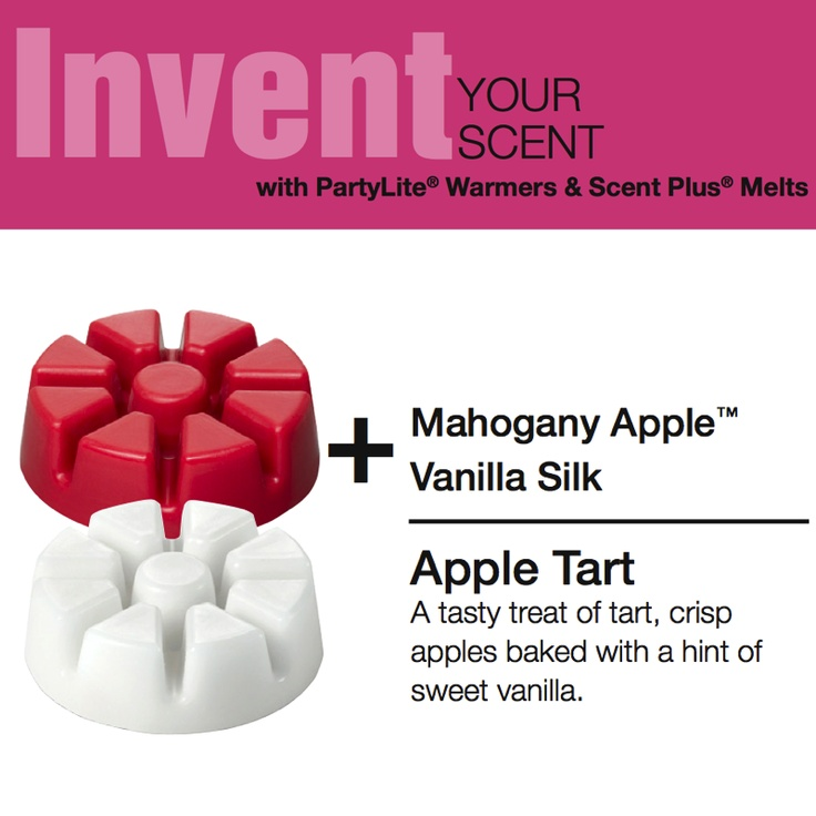 Invent Your Scent Fall Holiday recipe using #PartyLite Scent Plus® melts.