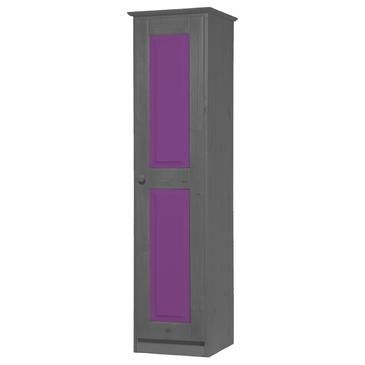Verona 1 Door Wardrobe Graphite With Lilac Details - WR1DVERX0000GLL from BEYOND Stores