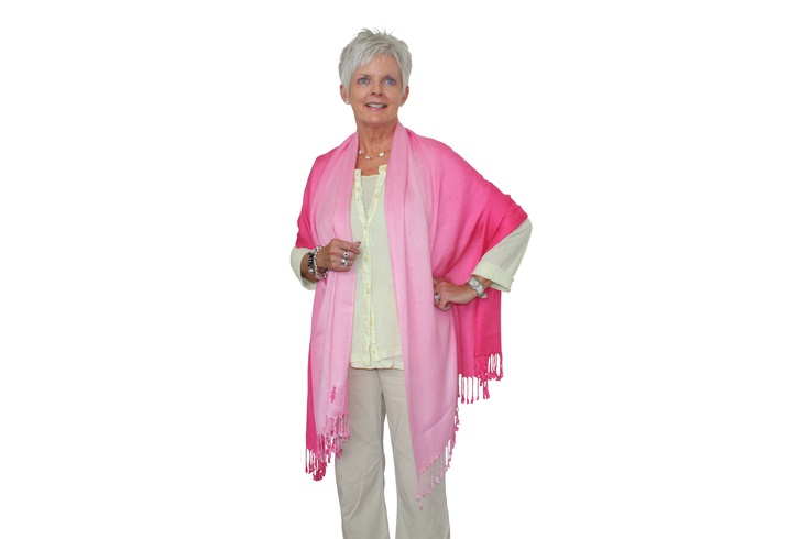 This beautiful pink pashmina wrap is suitable for all seasons and occasions.    Highly fashionable with our BCNA Pink Lady subtly featured, it is a fantastic way to add a splash of pink to your outfit.    Highly fashionable with our BCNA Pink Lady subtly featured, it is a fantastic way to add a splash of pink to your outfit.