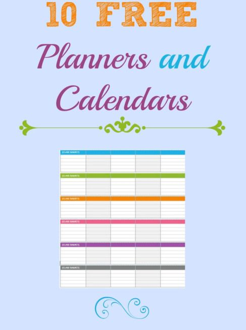 10 calendars and planners Friday Freebie...2014 Calendars and Planners