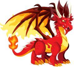 Dragon City Flame Dragon Adult