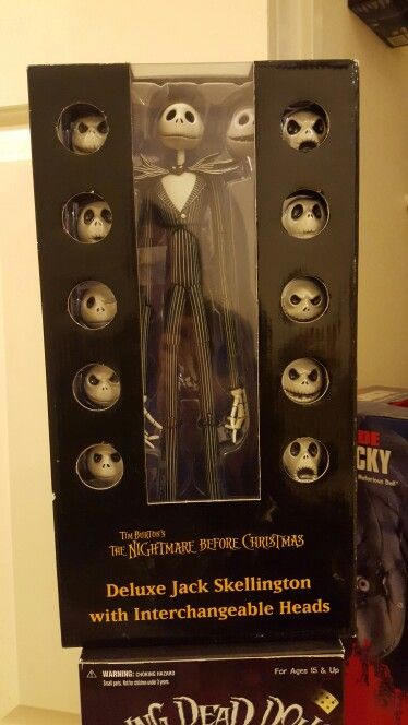 The Nightmare Before Christmas. Jack Skellington with interchangeable heads. My collection.