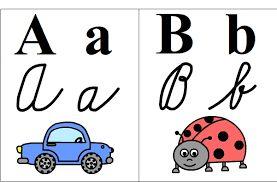 Výsledek obrázku pro abeceda k vytisknutí