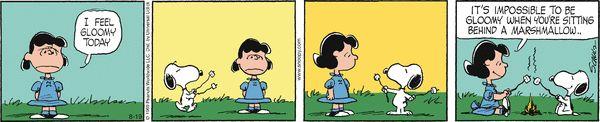 Peanuts Comic Strip, August 19, 2016     on GoComics.com