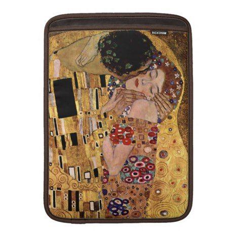 Gustav Klimt: The Kiss (Detail) MacBook Sleeve #laptop #computer #ipad #mac #sleeve #bags #modern #colorful