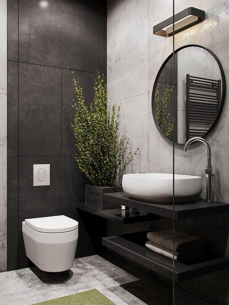 51 Badezimmer im Industriestil sowie Ideen und Zub…