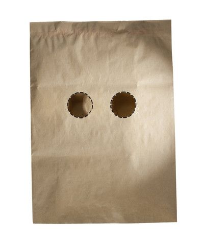 Having a Bad Face Day? Nutty Tarts has a solution for you... this paper bag. One size fits all.