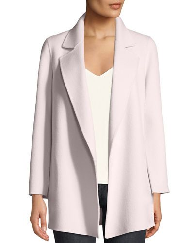 2f0e39ad1d TX6FA Theory Clairene Open-Front New Divide Wool-Cashmere Coat ...