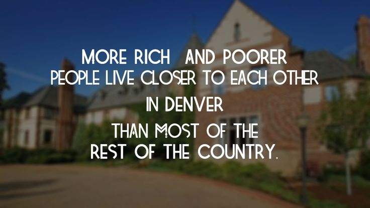 Denver's housing mix pretty economically integrated, says new report. Read more: http://bit.ly/1Ojt7a4  #RealEstate #DenverHomes