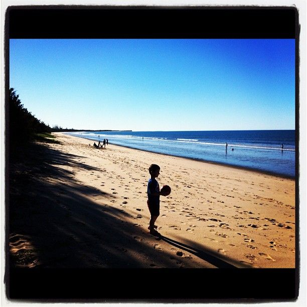 Woodgate Beach near Bundaberg in Queensland Australia. The perfect Autumn getaway!